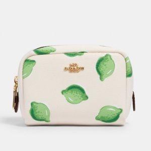 Coach Mini Boxy Cosmetic Case Lime Print